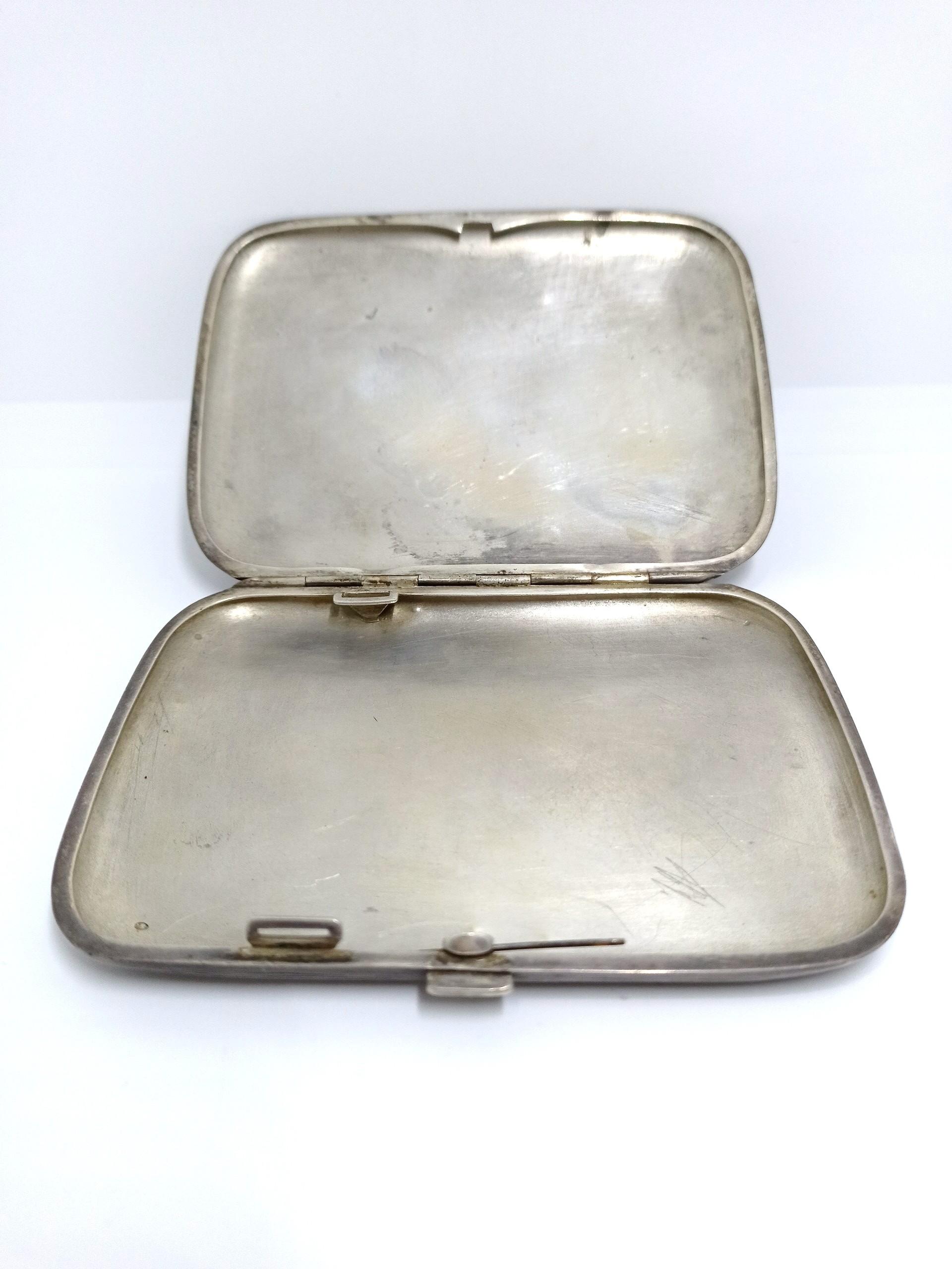 silver cigarettes case
