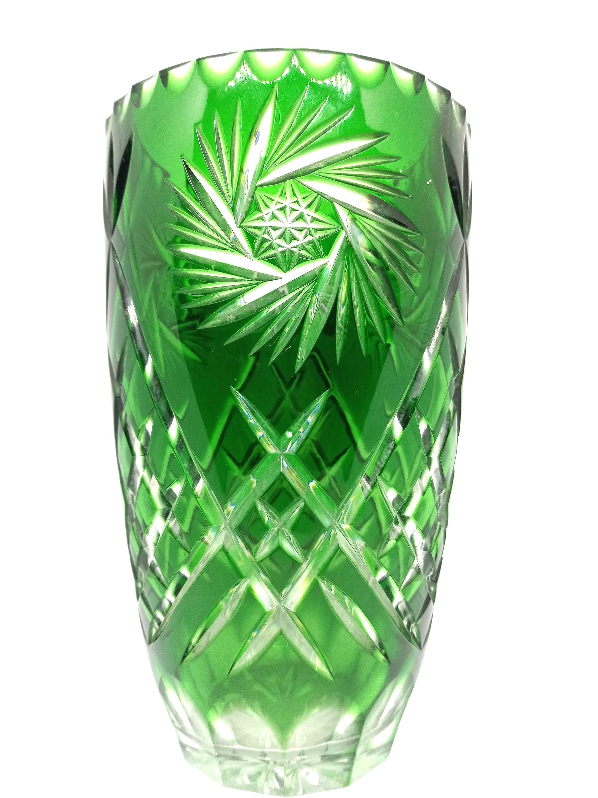 Czech Bohemian Crystal Vase