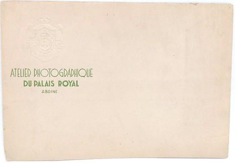 Atelier photographique du palais royal abdine