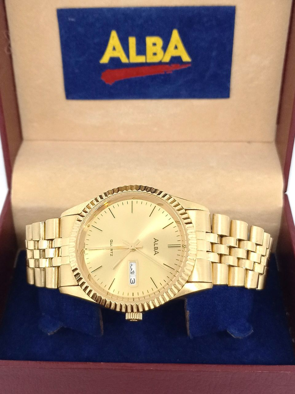 Alba V733-X018 gold plated watch