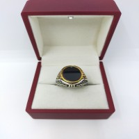 925 silver ring with onyx stone