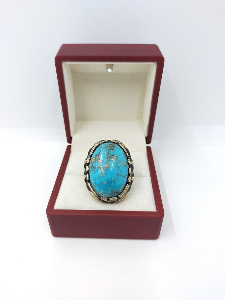 925 silver ring with turquoise stone