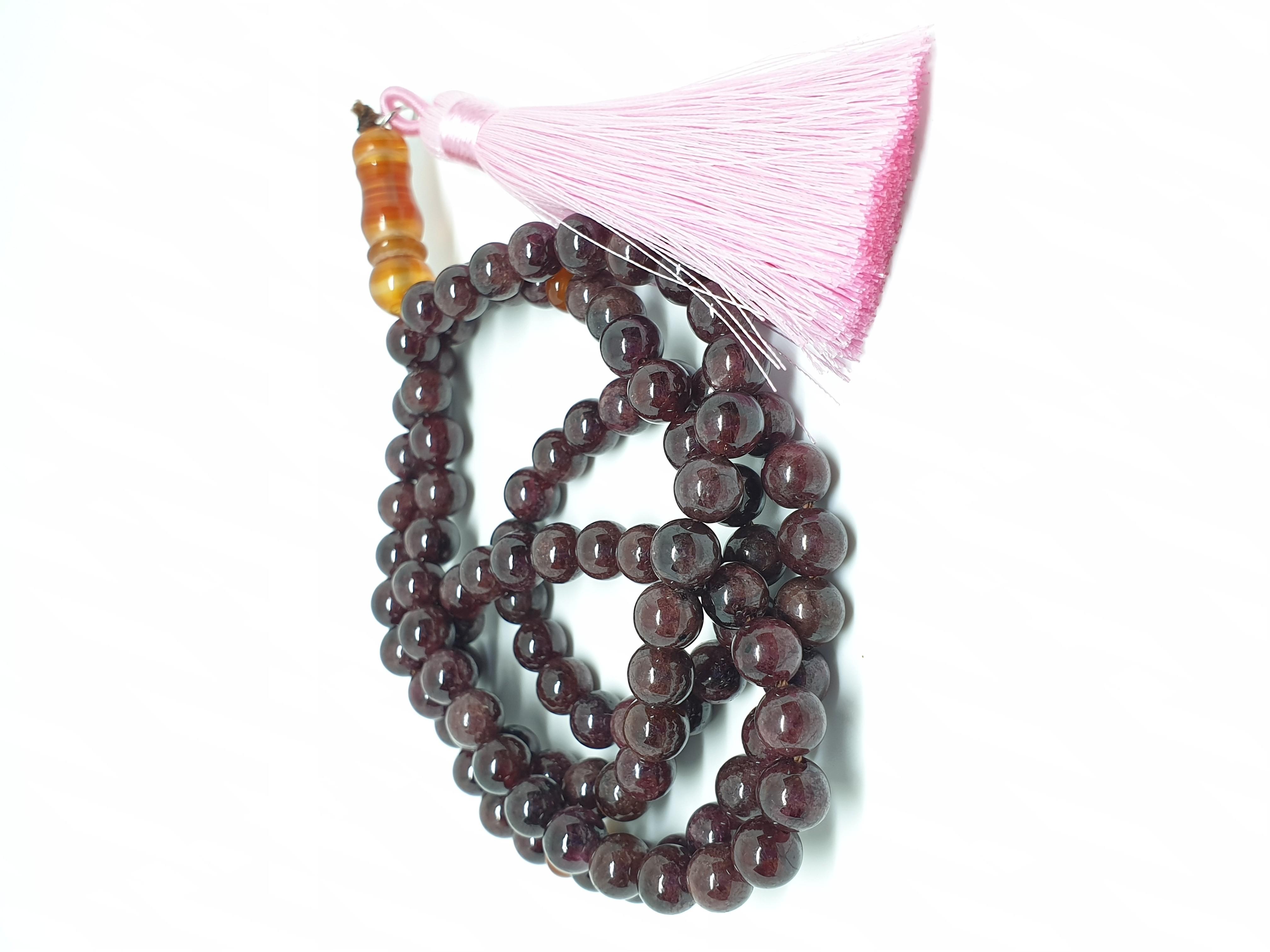 Misbaha of Garnet Stone