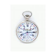 Ancre ligne droite 17 rubis pocket watch